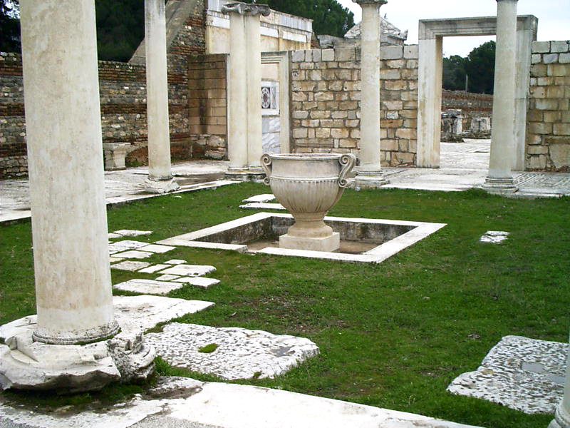 Ruins of the synagogue courtyard at Sardis